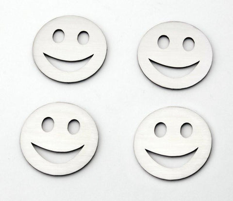 Smile Emoji Emblems Stainless Steel 4PC