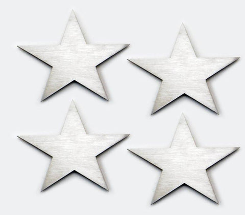 Small Star Emblems Stainless Steel 4Pc Set