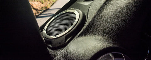 2007-18 Jeep Wrangler JK/JKU - Tweeter Speaker Trim Kit 2Pc | Stainless Steel, Choose Finish