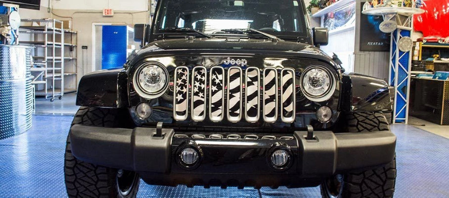 Star Spangled Grille Stainless Steel (07-18 Jeep Wrangler JK) American Car Craft