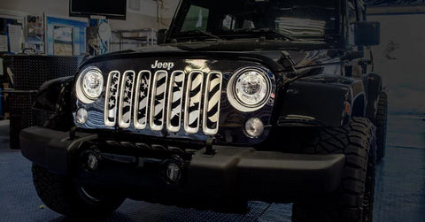 2007-18 Jeep Wrangler JK - Star Spangled Grille | Stainless Steel