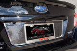 "Subaru WRX - License Plate Frame ""WRX"" Lettering & Laser Etched Turbo American Car Craft"