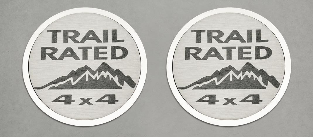 Trail Rated Badges (07-18 Jeep Wrangler JK) | 2PC American Car Craft