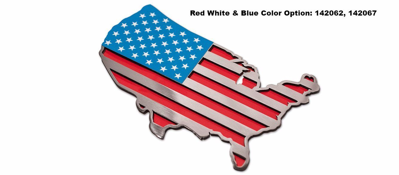 USA Map Flag Emblem | 1PC American Car Craft