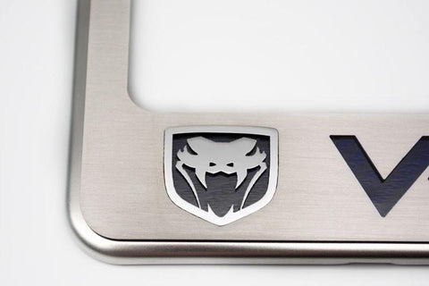 "Viper ""Fangs"" Gen 3 SRT 10 License Plate Frame American Car Craft"