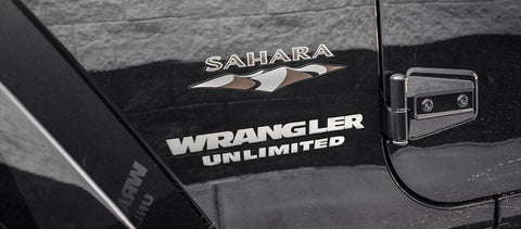 Wrangler Unlimited Badges (07-18 Jeep Wrangler JK) | 2PC