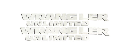 Wrangler Unlimited Badges (07-18 Jeep Wrangler JK) | 2PC American Car Craft