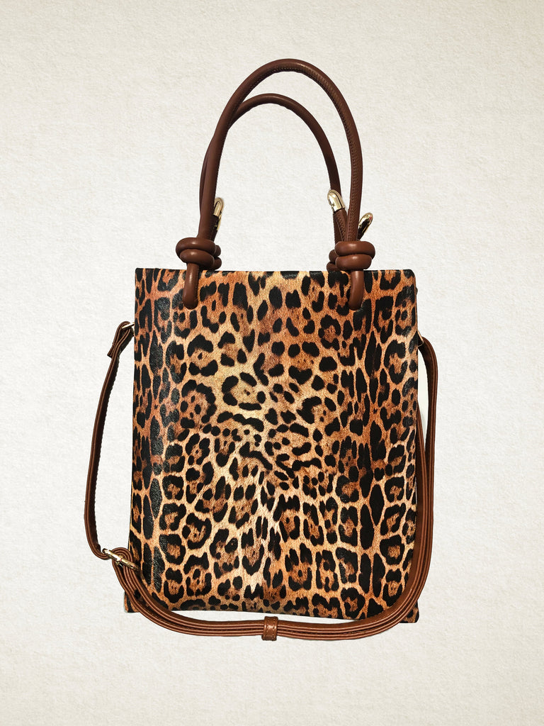 LEopard Print Tote Bag Medium