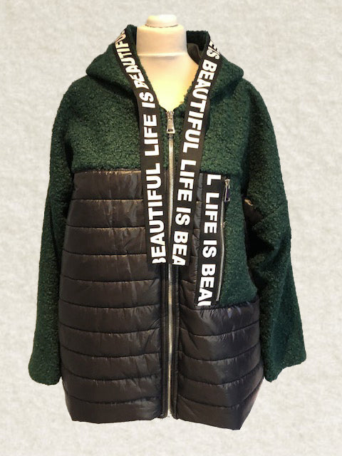 Life is Beautiful Hunter Green Coat
