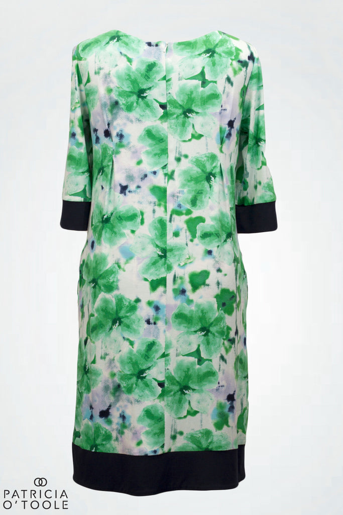 Molly Dress Navy and Green Floral