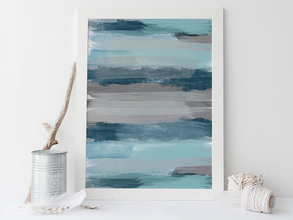 Stormy Seas Abstract Art Print by Pink Milkshake Designs