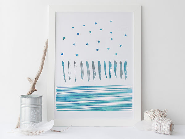 Ocean Abstract Art Print by Pink Milkshake Designs