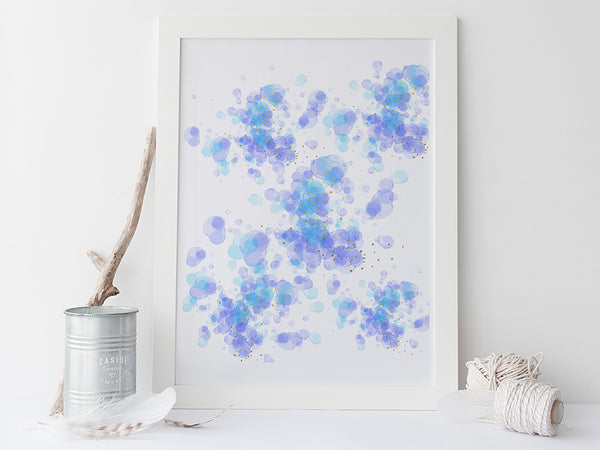 Bubbles Abstract Art Print by Pink Milkshake Designs
