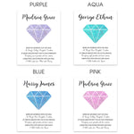 Gemstone Birth Announcement Print