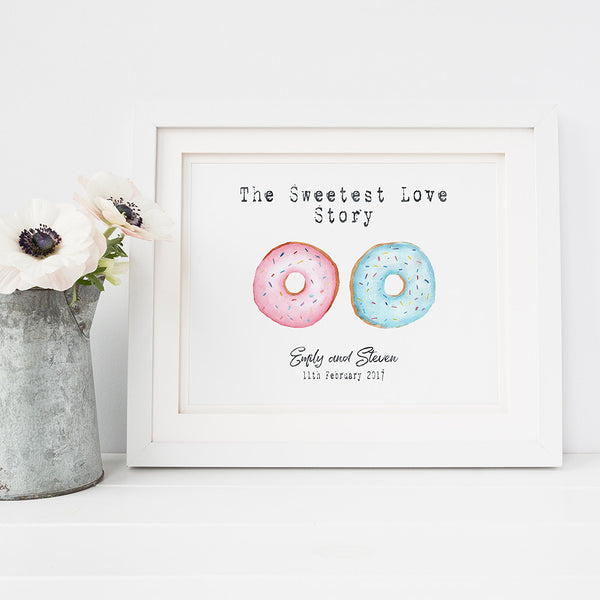 'The sweetest love story' print by Pink Milkshake Designs