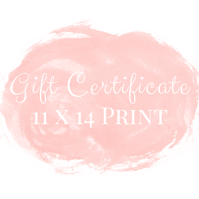 Gift Certificate for an 11 x 14 print