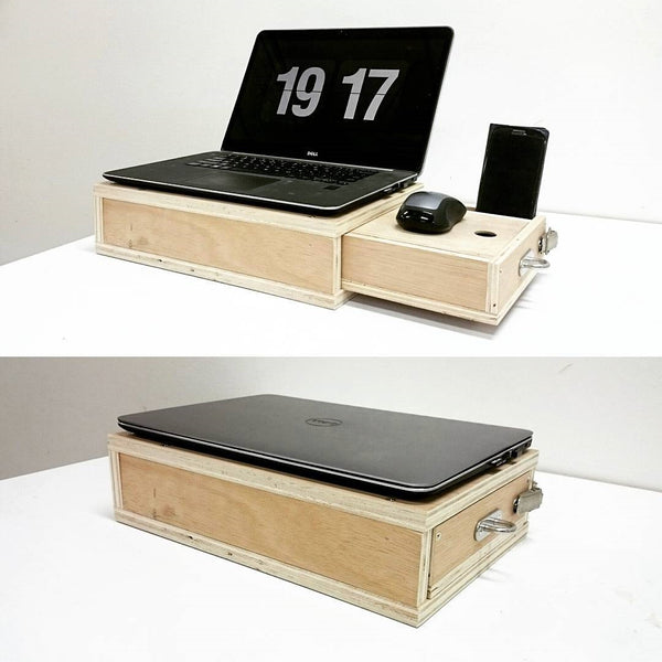 Portable Laptop Stand with storage