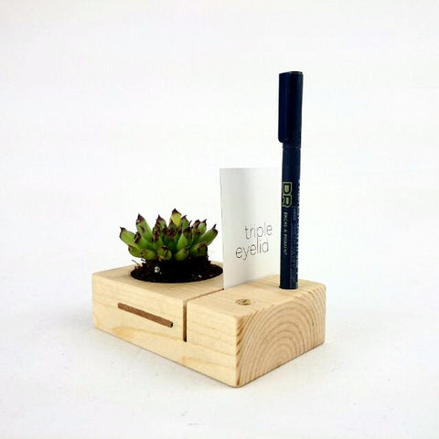Reclaimed Pinewood 3-in-1 Planter - tripleeyelid  - 4