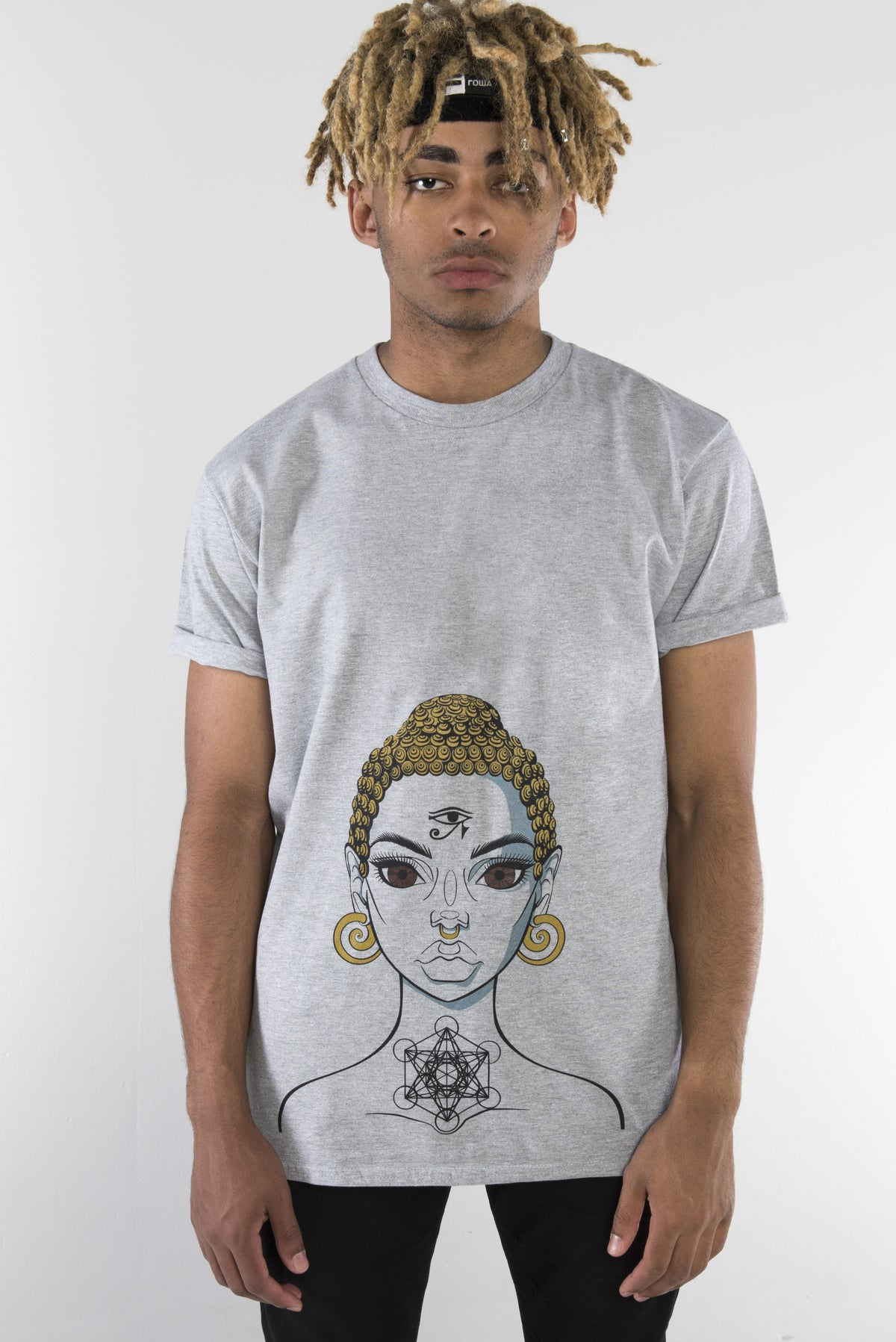 Buddha Girl T-Shirt - Light Grey