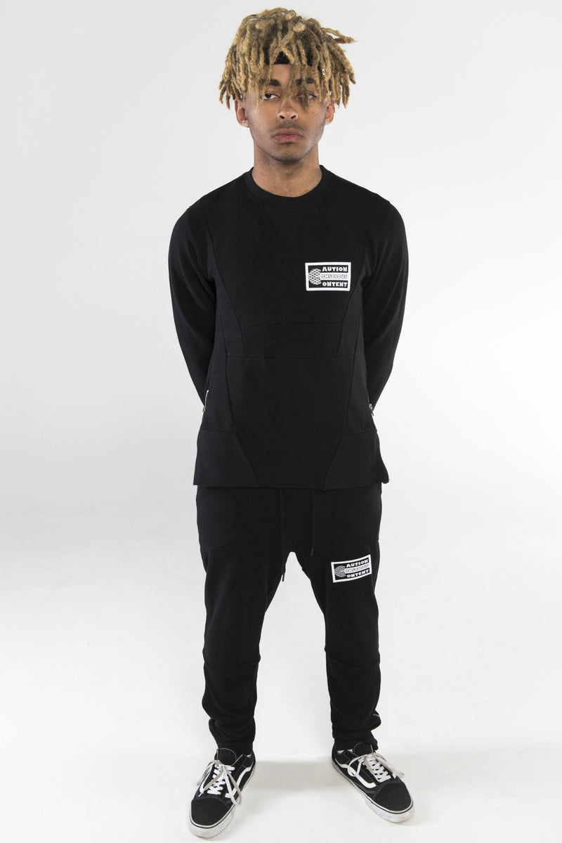 Caution Zip Tracksuit