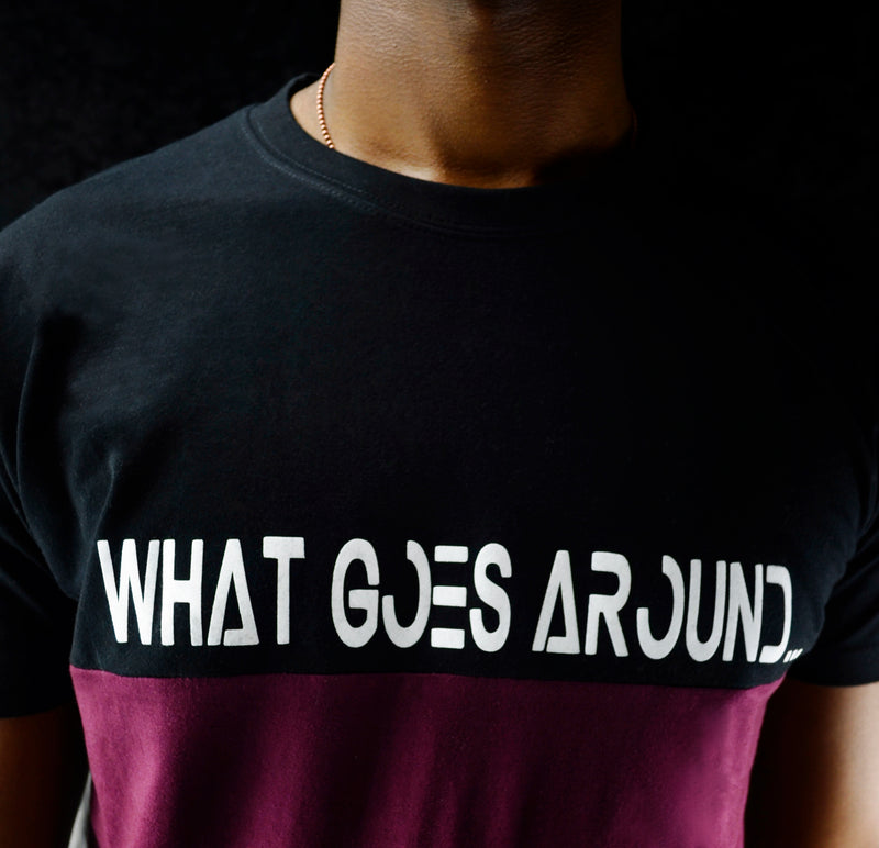What Goes Around T-Shirt - Maroon