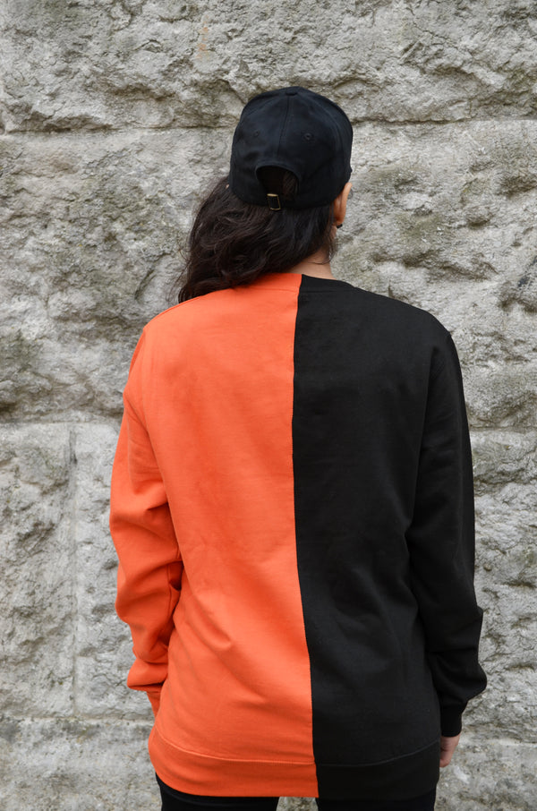 Mask Jumper - Black and Burnt Orange