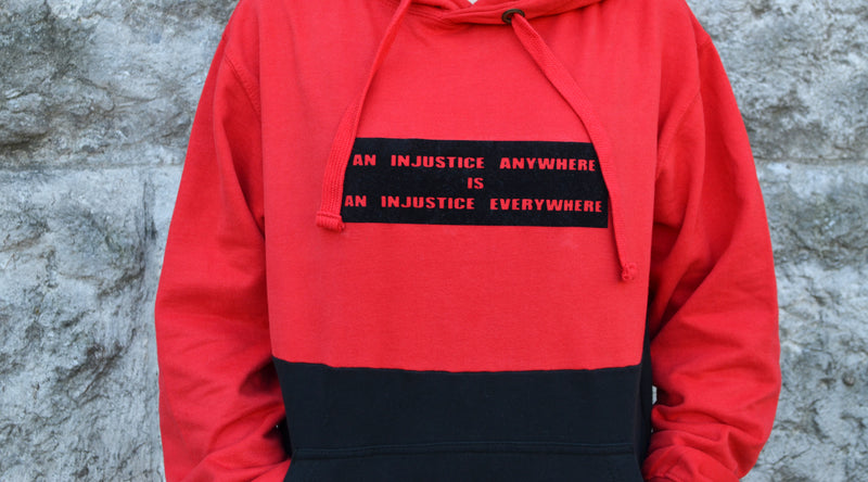 Injustice Hoodie - Red and Black