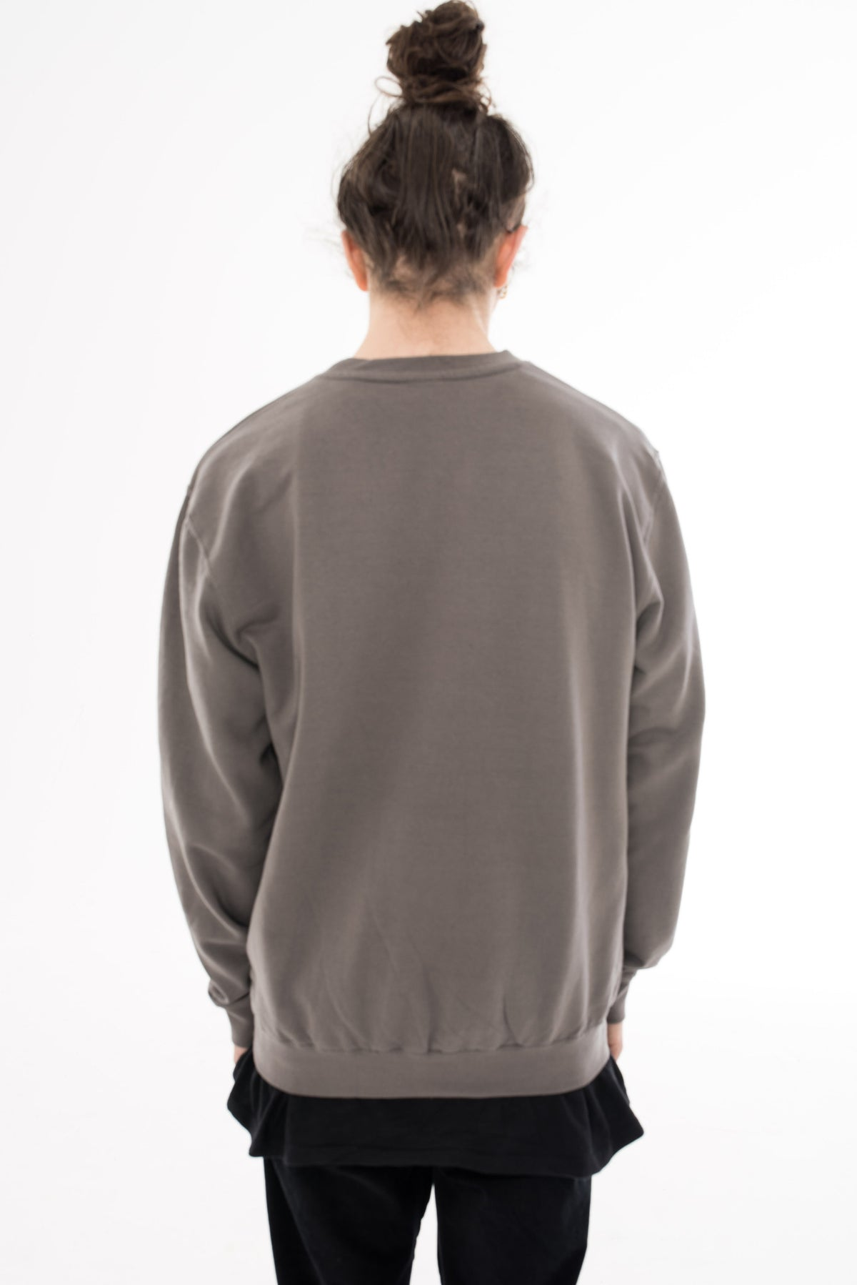 Buddha Girl Jumper - Steel Grey