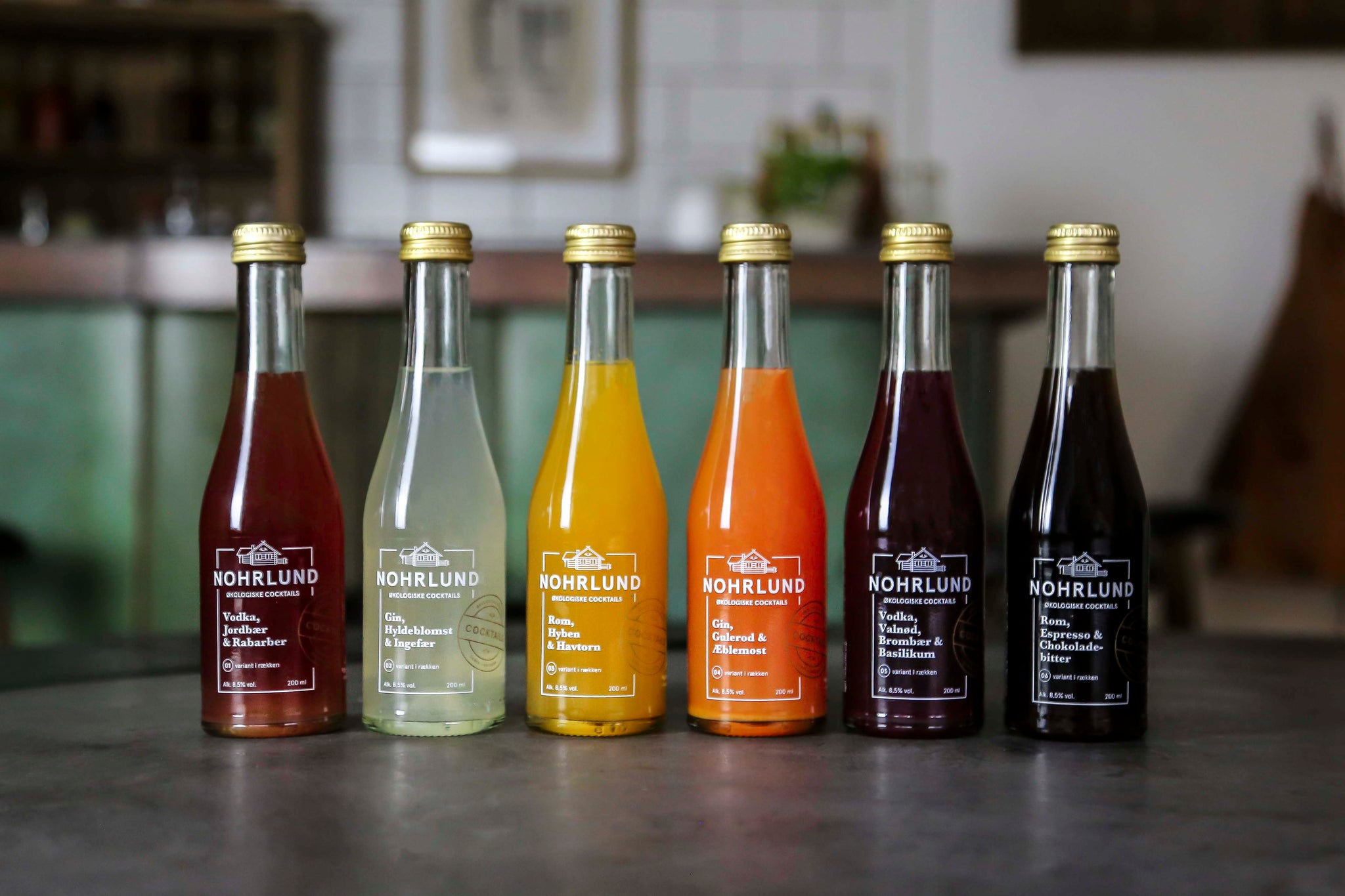Pre-bottled Organic Cocktails by Nohrlund