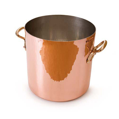Hammered Copper Stockpot With No Lid And Tin Inside