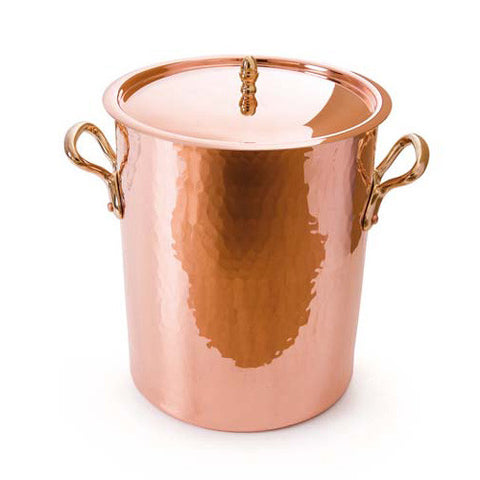 Hammered Copper Soup Pot & Lid, Tin Inside