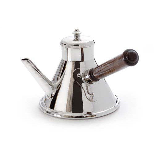Stainless Steel Coffee Pot With Wood Handle