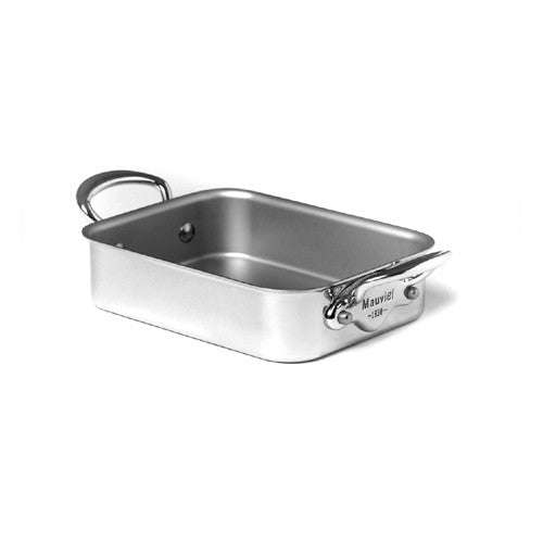 Stainless Steel Roasting Pan With Stainless Steel Handles