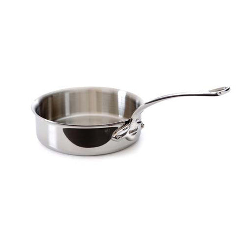 Stainless Steel Sautepan With Pouring Lip & Stainless Steel Handle