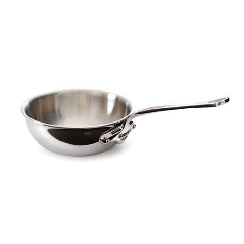 Stainless Steel Curved Sautepan With Pouring Lip & Stainless Steel Handle