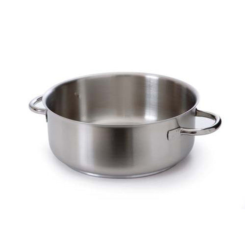 Brushed Stainless Steel Sautepan With Stainless Steel Handles