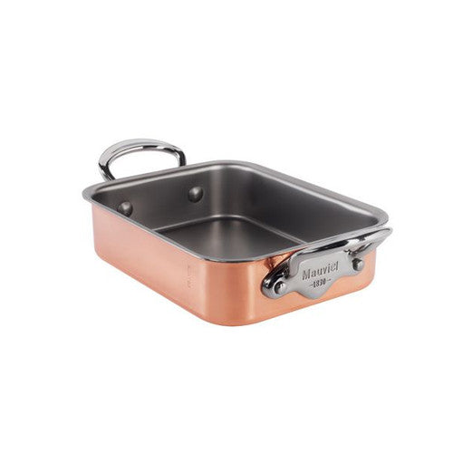 Copper Roasting Pan With Stainless Steel Handles