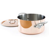 Copper Stewpan With Lid & 2 Stainless Steel Handles
