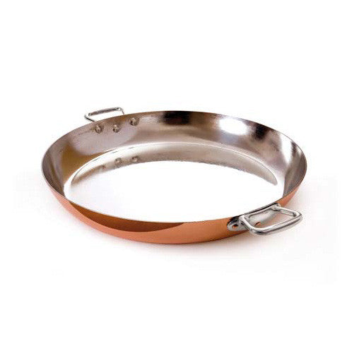 Copper Paella Pan with Stainles Steel Handles