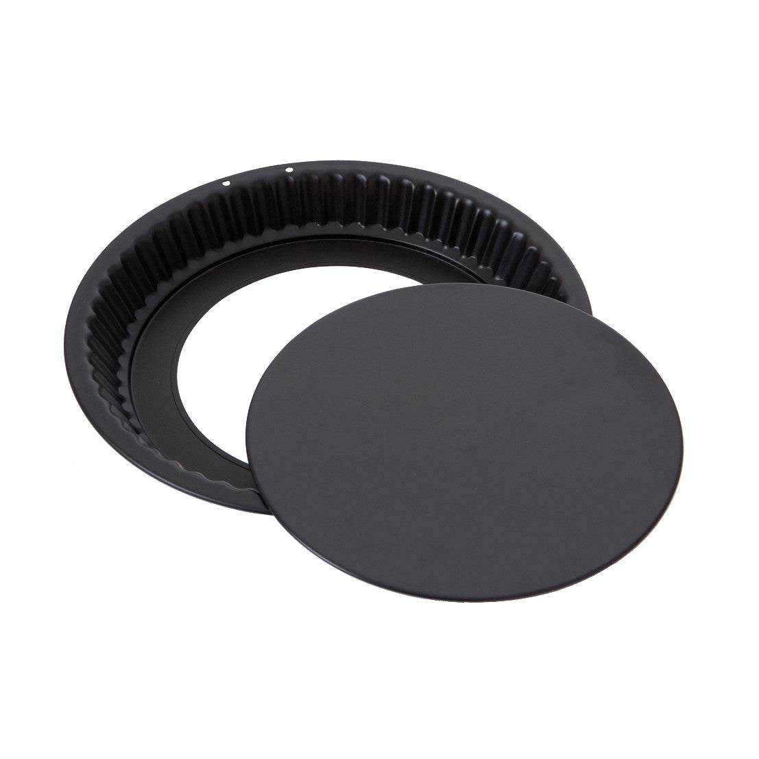 Non-Stick Black Steel Tart Mould & Removable Base