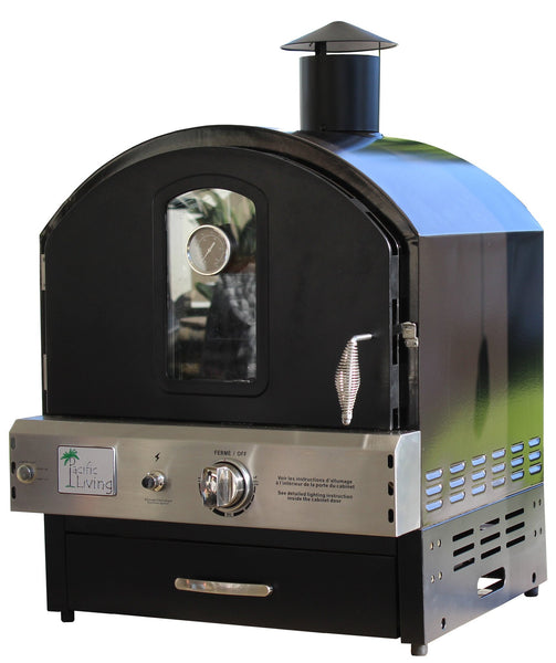 Pacific Living - Black Powder Coated Outdoor Oven - EcoBrandsNow