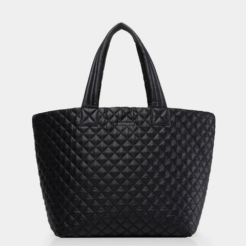 Quilted Black Large Metro Tote