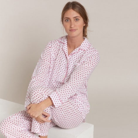Hearts Loungewear Set Pink