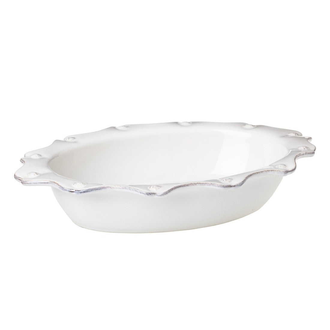 B&T White Small Oval Baking Dish