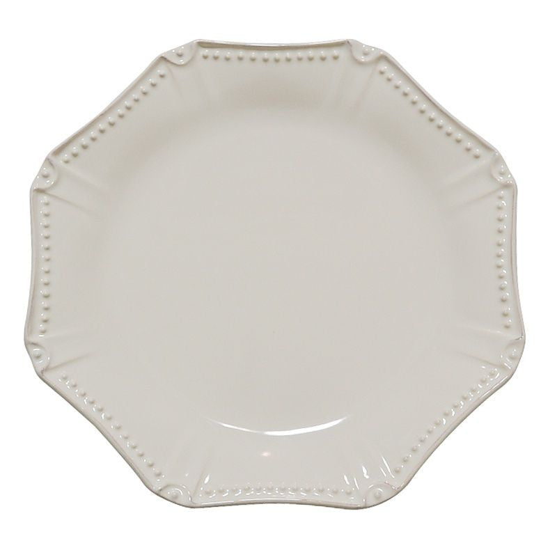 Isabella Ivory Octagonal Dinner Plate