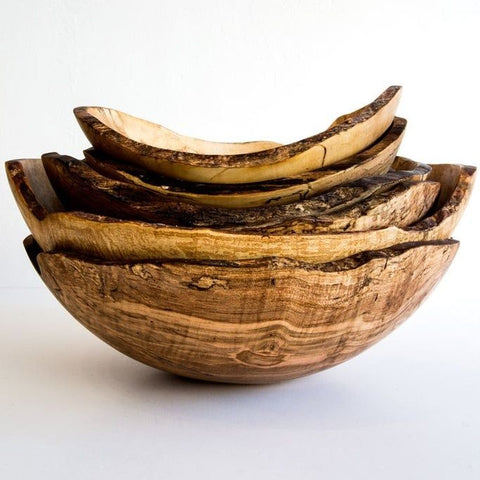 Spalted Maple Oval Bowl