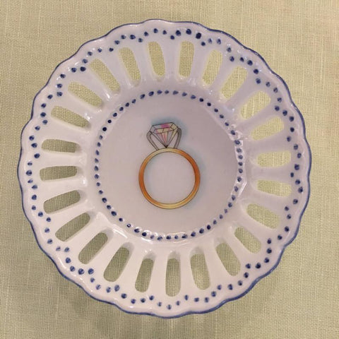 Engagement Ring Dish Blue
