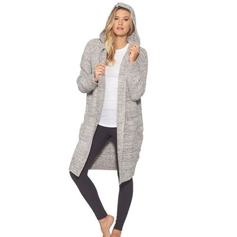 Cozychic California Coat- Warm Gray/White