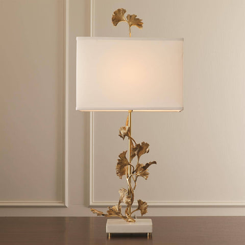 Ginkgo Table Lamp - Brass