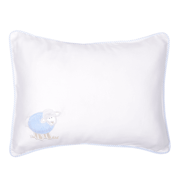 Baby Pillow Blue Little Lambs